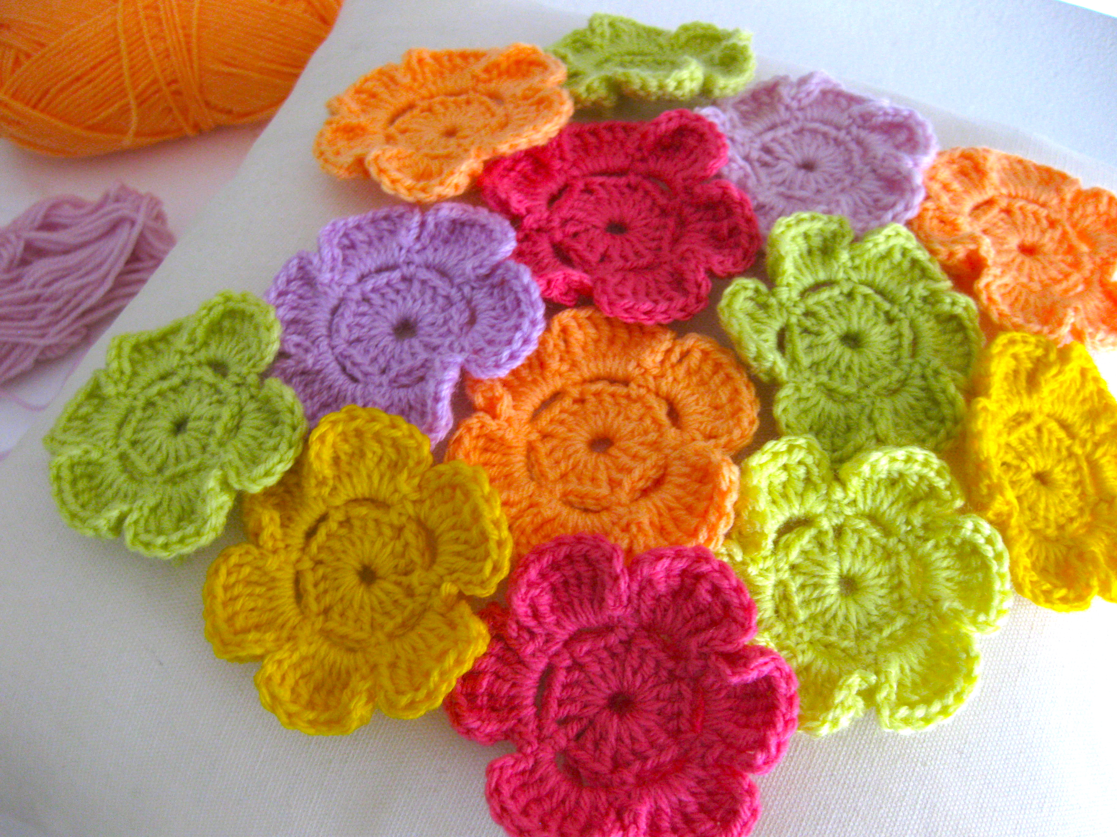 field of crocheted flowers Sarah London