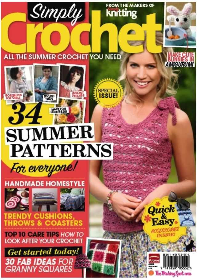 Just Crochet Magazine : Simply Crochet Magazine hits the news stands tomorrow, Thursday 14th ...