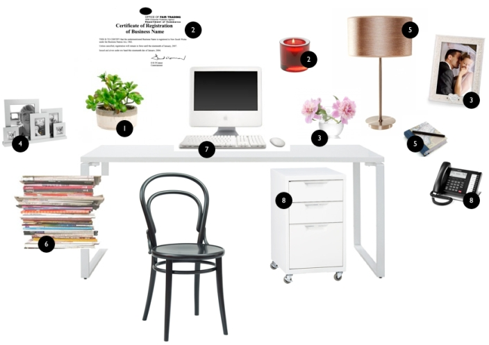 feng shui desk placement