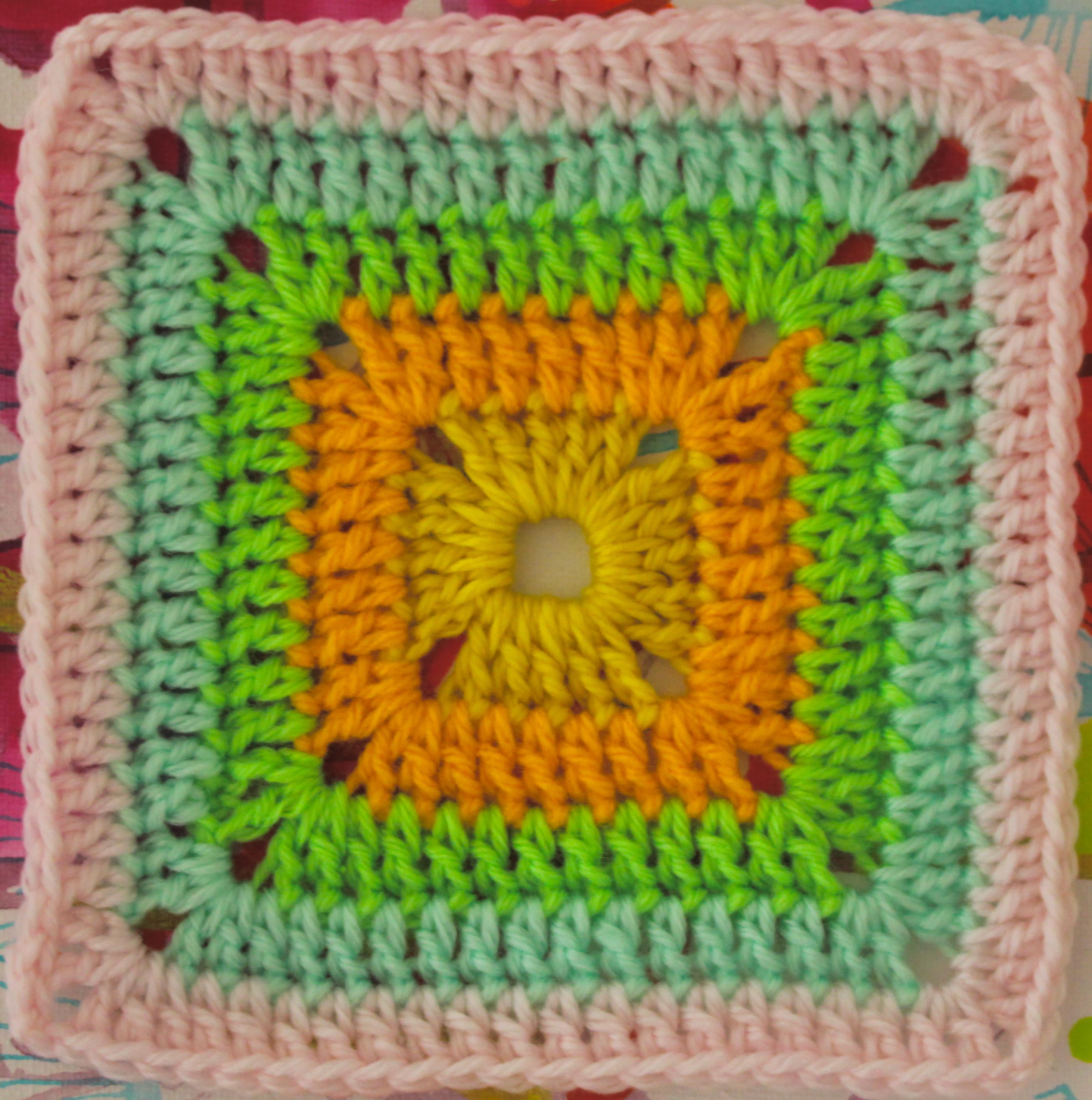 Free Crochet Granny Square Motif Patterns : FREE Motif Monday: Solid Crocheted Square Sarah London