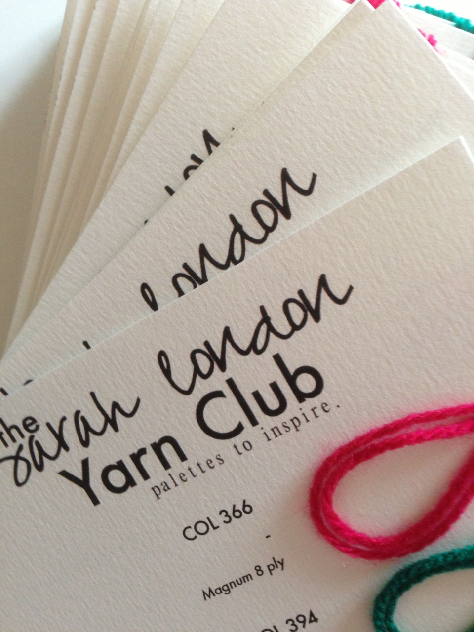 Yarn Club | Sarah London | November 2013